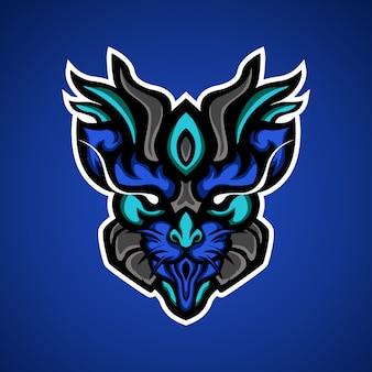 Roofzuchtige kat esport mascotte logo