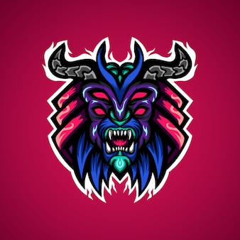 Roofzuchtige monster gaming esport mascotte logo