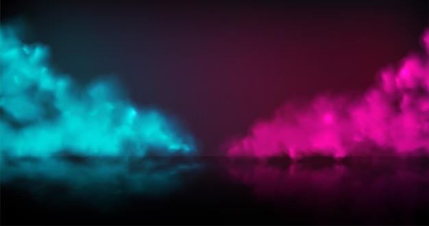 Rook fase vector achtergrond. abstracte blauwe en rode mist met schaduw.