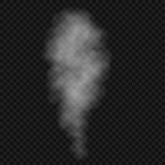 Rook of wolk geïsoleerd, transparant effect. witte mist, mist of smog achtergrond.