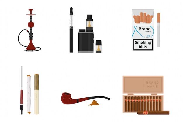 Rookaccessoires en tabaksproducten ingesteld