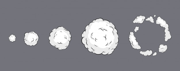 Rookexplosie-animatie