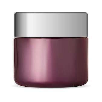 Roomkruik, geïsoleerde glas kosmetische duidelijke spatie