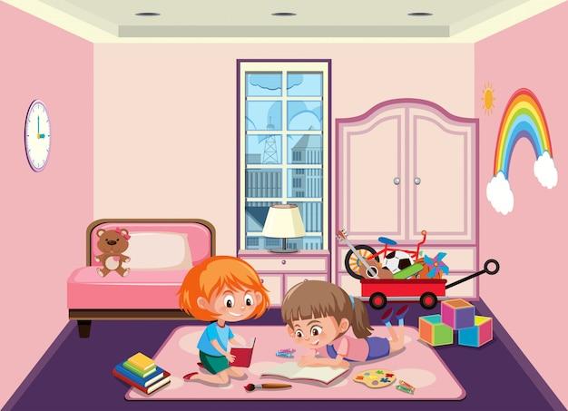 Roommate die in de slaapkamer speelt