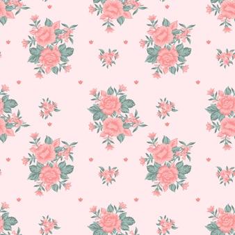 Roos naadloos patroonontwerp