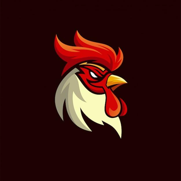 Rooster hoofd illustratie