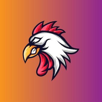 Rooster mascotte e sport-logo