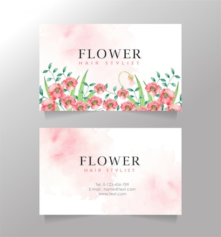 Rose bloem naam kaart splash achtergrond sjabloon