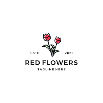 Rose bloemen logo ontwerp vectorillustratie
