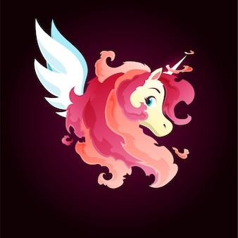 Rose fire magic unicorn
