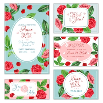 Rose flower banners