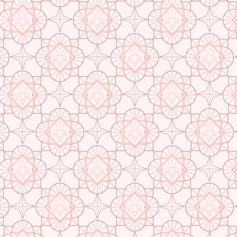 Rose goud art deco patroon
