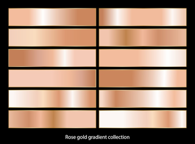 Rose goud brons verloop achtergronden collectie.