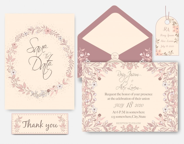 Rose goud glitter roze bruiloft kaart uitnodiging
