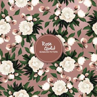 Rose goud naadloze patroon