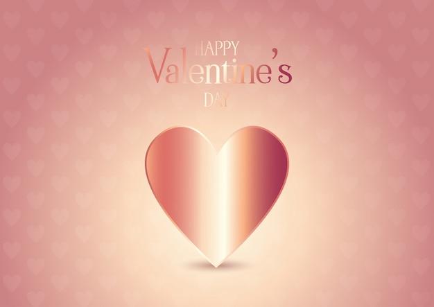Rose goud valentijnsdag achtergrond