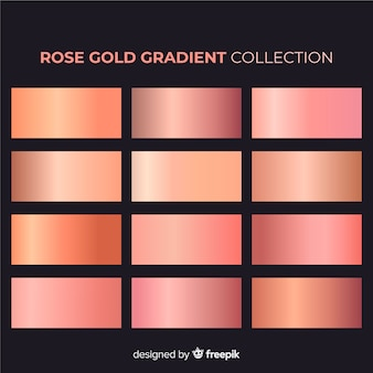 Rose goud verloop collectie