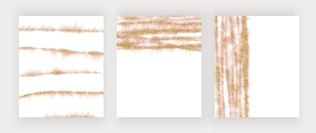 Rose gouden aquarel glitter lijnen
