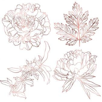 Rose gouden elementen instellen