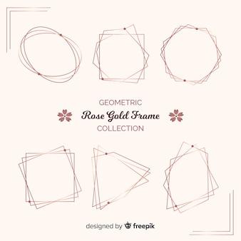 Rose gouden frame-collectie