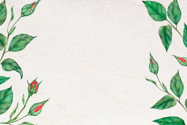Rose laef grenskader sociale media banner achtergrond