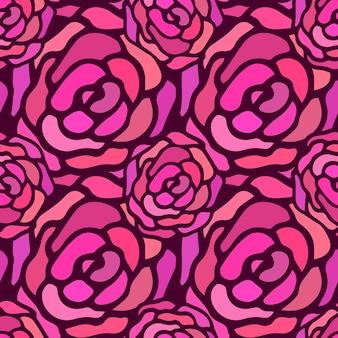 Rose naadloze vector patroon