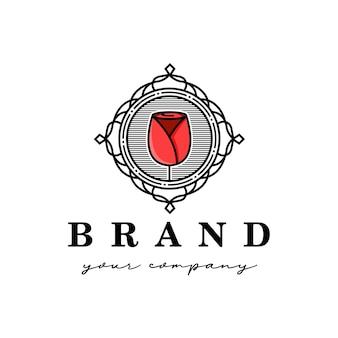 Rose royal embleem logo sjabloon