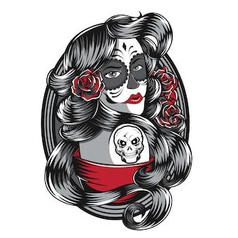 Rose vrouwen t-shirt design