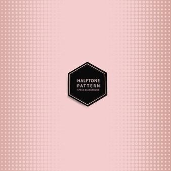 Rosegold halftone vector als achtergrond