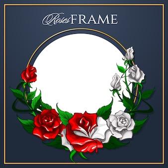 Roses frame voor de wenskaart