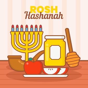 Rosh hashanah illustratie