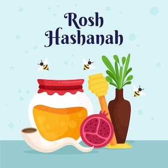 Rosh hashanah met honing