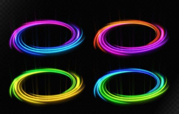 Roterende vortex-set geschikt voor productreclame, productontwerp en andere vector