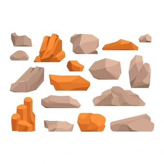 Rotsen en stenen illustratie
