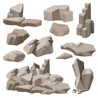Rotsen en stenen instellen