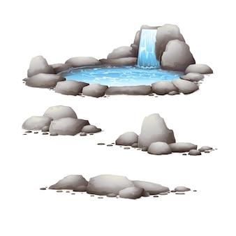 Rotsen en stenen. natuurelementen