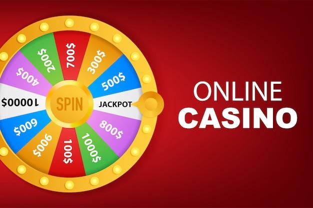 Roulette fortuin. wiel fortuin voor spel en win jackpot.