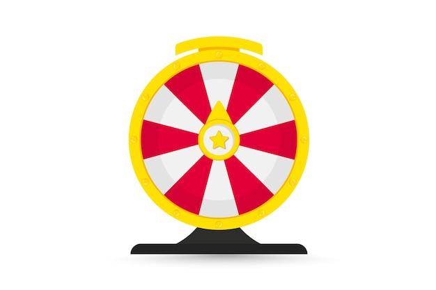 Roulette om te gokken en jackpot te winnen. kleurrijk rad van geluk of fortuin. online casino, spin en win wiel. fortuinwiel voor casino. casino geld spellen. draaiend geluksrad