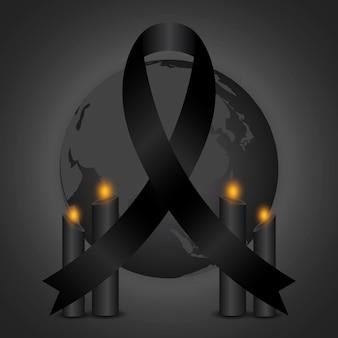 Rouw om de illustratie van de slachtoffers