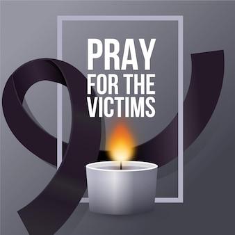 Rouw om het concept van de slachtoffers