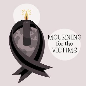 Rouw om het ontwerp van de slachtoffers