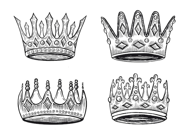 Rown of the collection handgetekende illustraties
