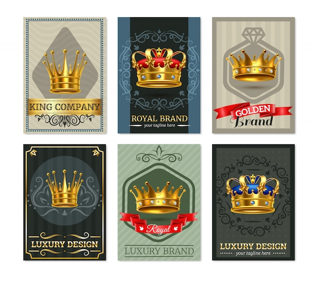 Royal crown realistische bannesr set