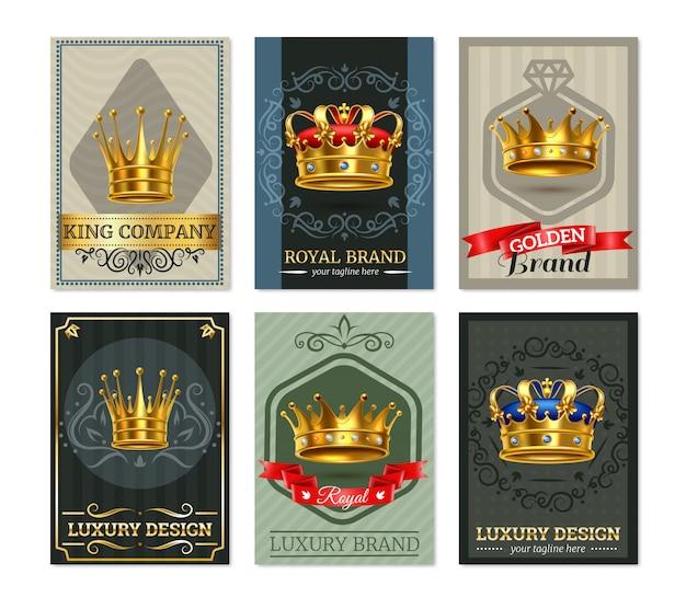 Royal crown realistische bannesr set
