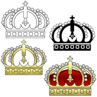 Royal crown set