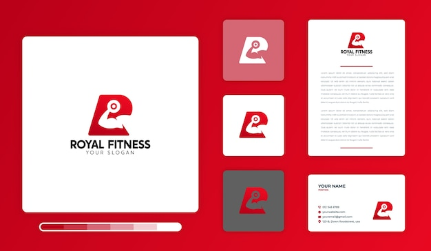 Royal fitness logo ontwerpsjabloon
