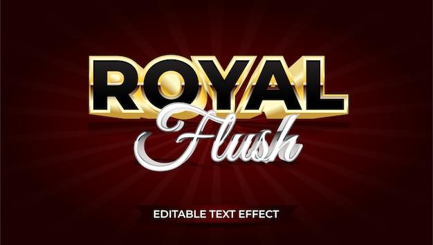 Royal flush-teksteffect