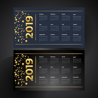 Royal golden & luxurious new year calender