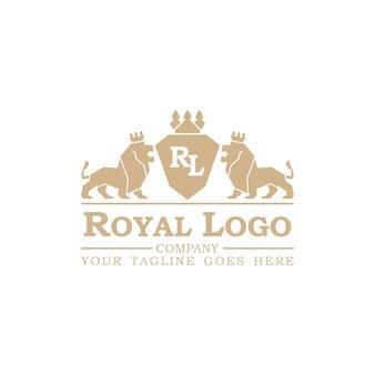 Royal logo vector illustratie. geïsoleerd op witte achtergrond