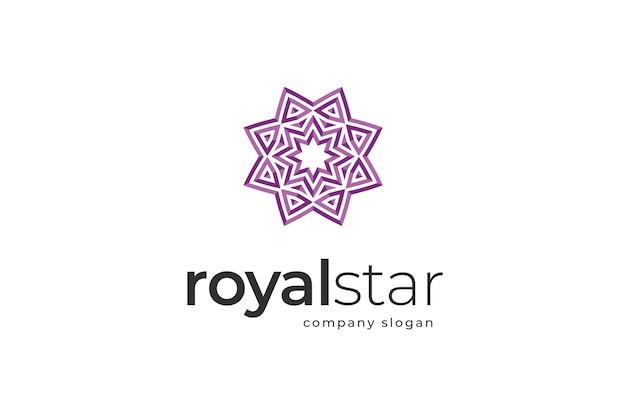 Royal star-logo sjabloon
